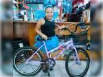 Ganhadora da bike novinha em parceria com a Canes Bike