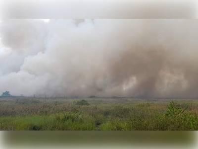 Canavieiras: Incêndio atinge área da comunidade de Campinhos